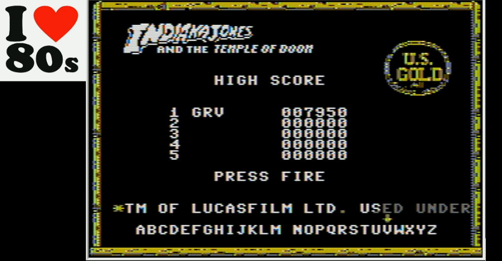 Giorvam: Indiana Jones And The Temple of Doom (Apple II Emulated) 7,950 points on 2018-01-19 09:29:04