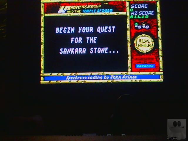 GTibel: Indiana Jones and the Temple Of Doom (ZX Spectrum) 61,410 points on 2018-01-11 12:23:06