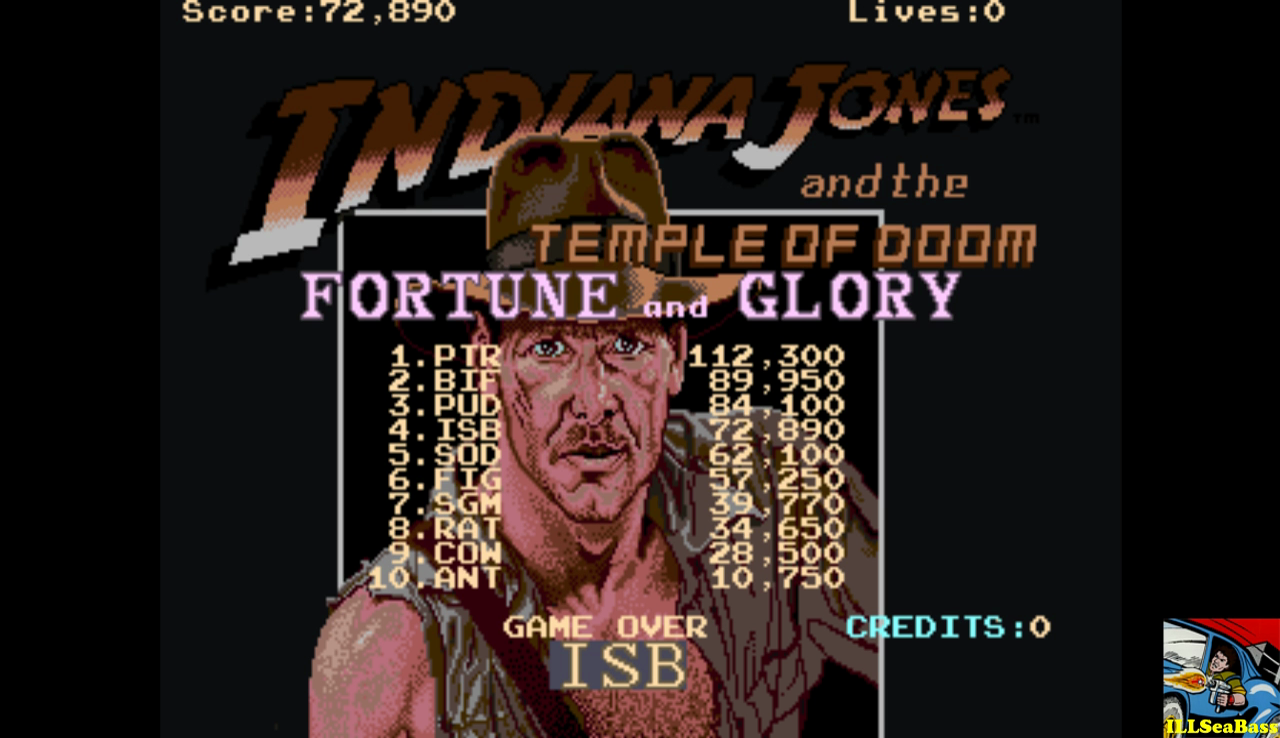 Indiana Jones and the Temple of Doom: Easy [indytemp] 72,890 points
