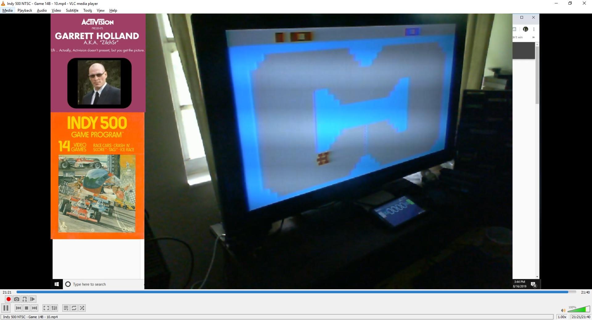 ZilchSr: Indy 500: Game 14 (Atari 2600 Novice/B) 10 points on 2019-08-21 02:25:40