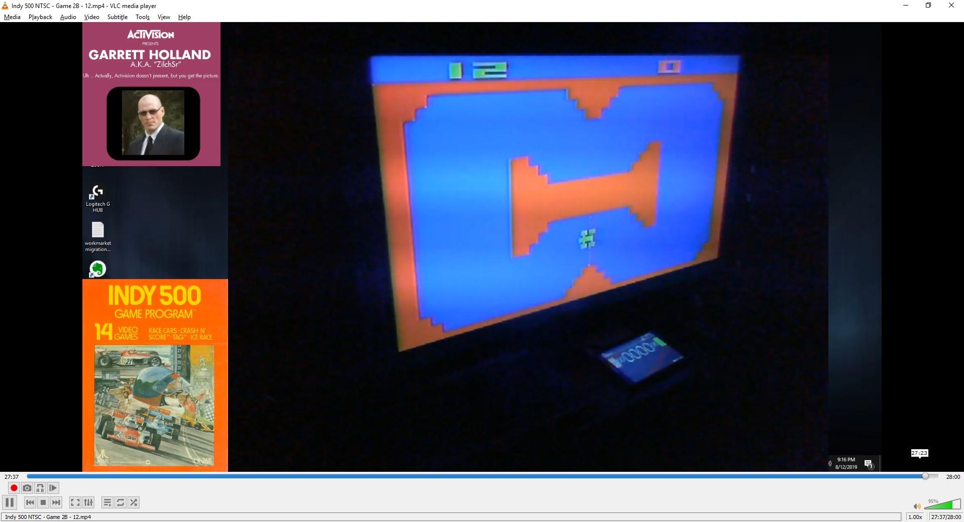 ZilchSr: Indy 500: Game 2 (Atari 2600 Novice/B) 12 points on 2019-08-21 02:48:57