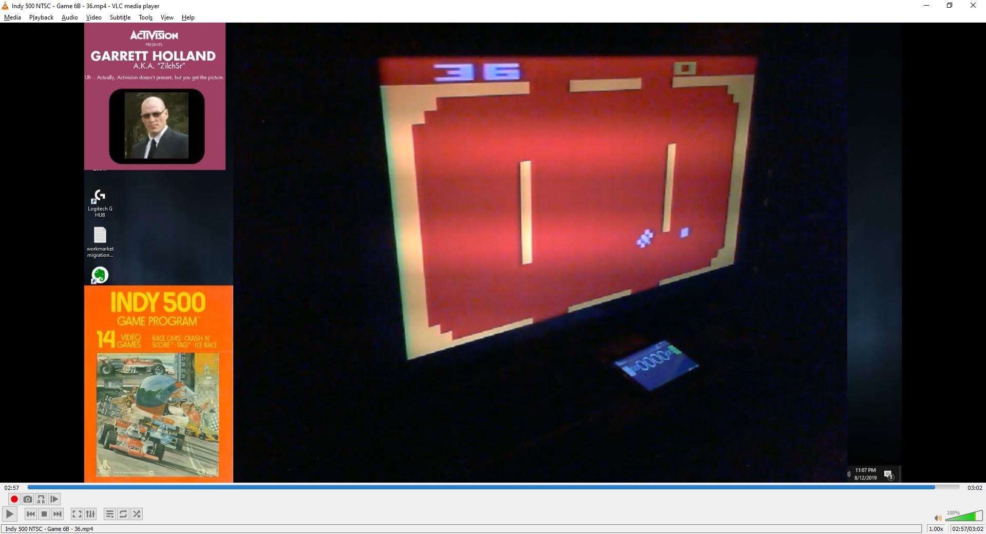 ZilchSr: Indy 500: Game 6 (Atari 2600 Novice/B) 36 points on 2019-09-29 19:29:47