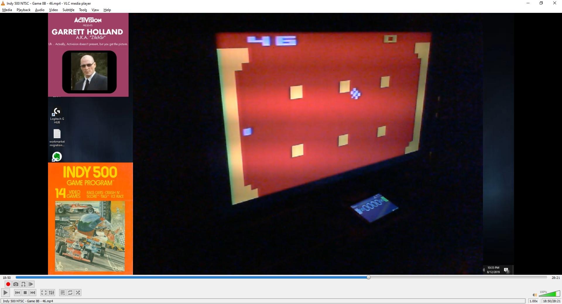 ZilchSr: Indy 500: Game 8 (Atari 2600 Novice/B) 46 points on 2019-09-29 19:22:37