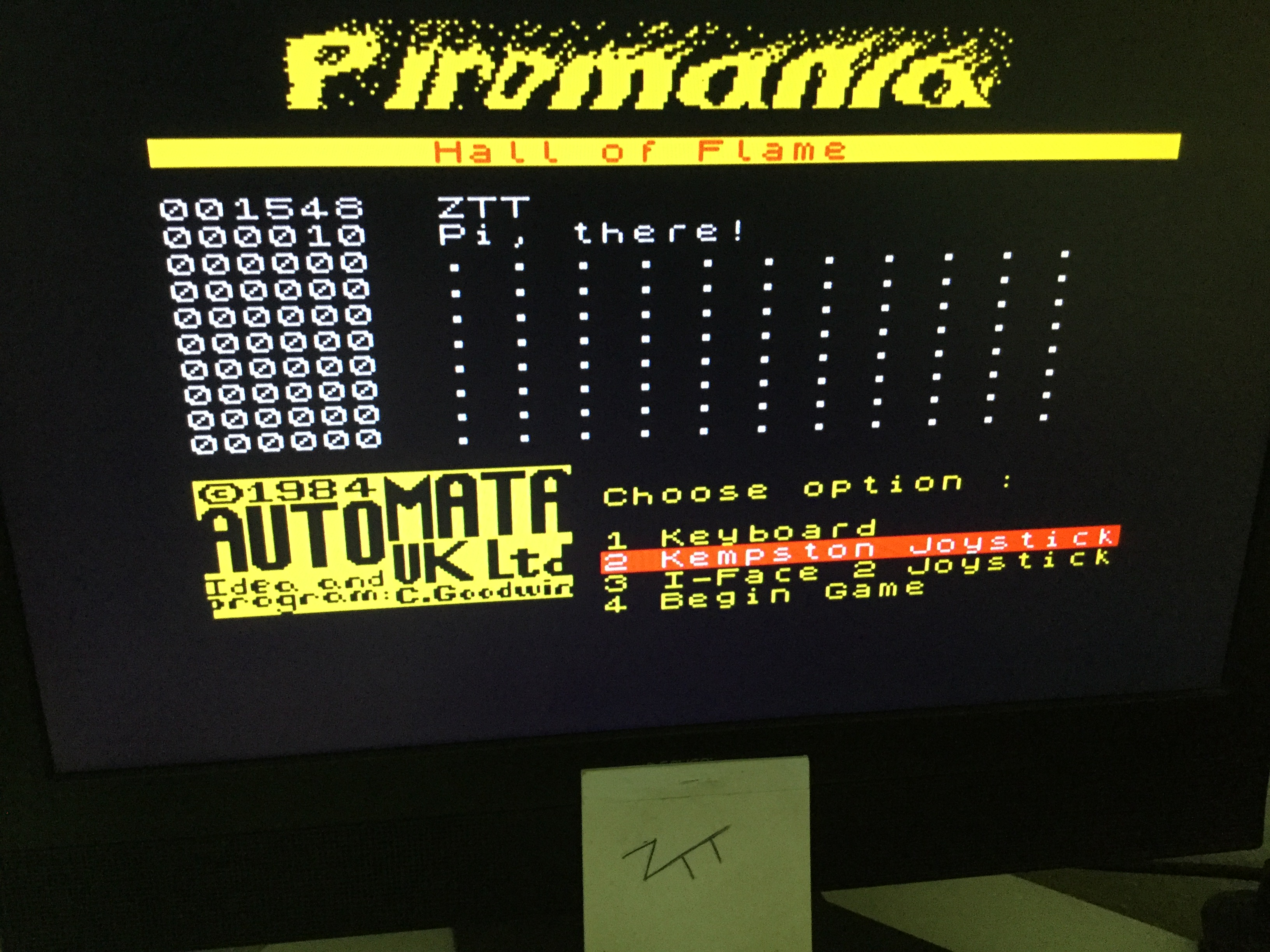 Frankie: Infernal Combustion / Piromania (ZX Spectrum) 1,548 points on 2020-10-03 04:14:13