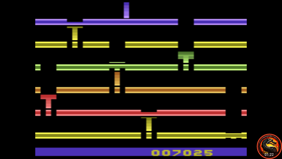 omargeddon: Infiltrate: Game 2 (Atari 2600 Emulated Expert/A Mode) 7,025 points on 2020-07-19 23:50:26