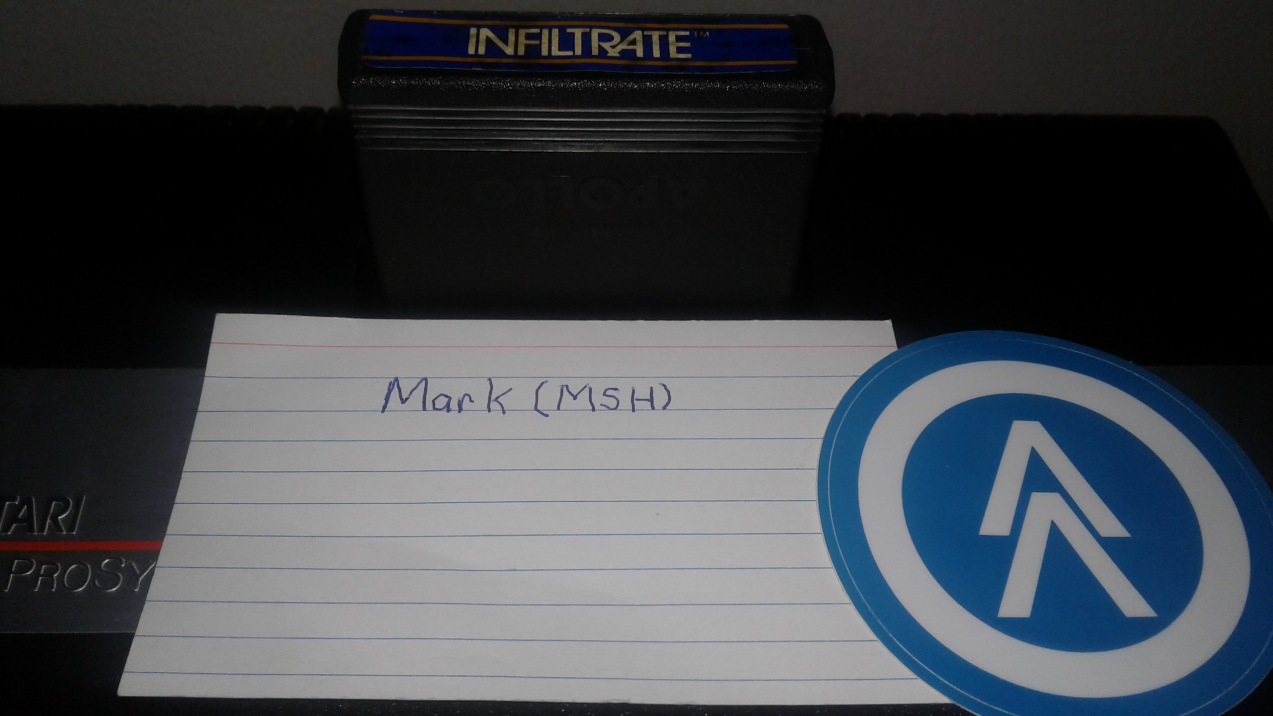 Mark: Infiltrate: Game 4 (Atari 2600 Expert/A) 8,450 points on 2019-02-27 03:07:38