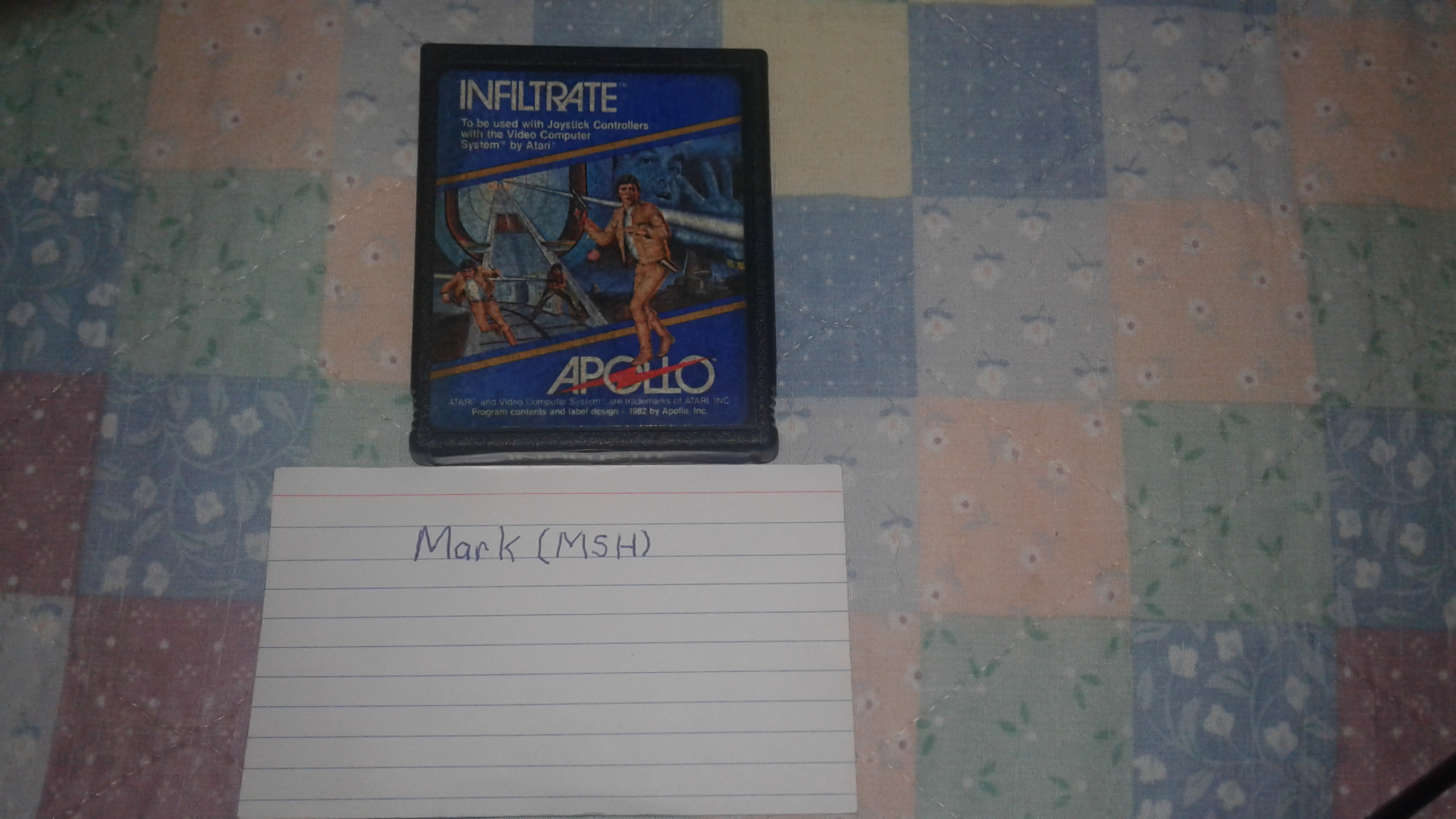 Mark: Infiltrate: Game 5 (Atari 2600 Novice/B) 9,600 points on 2019-03-03 01:48:12