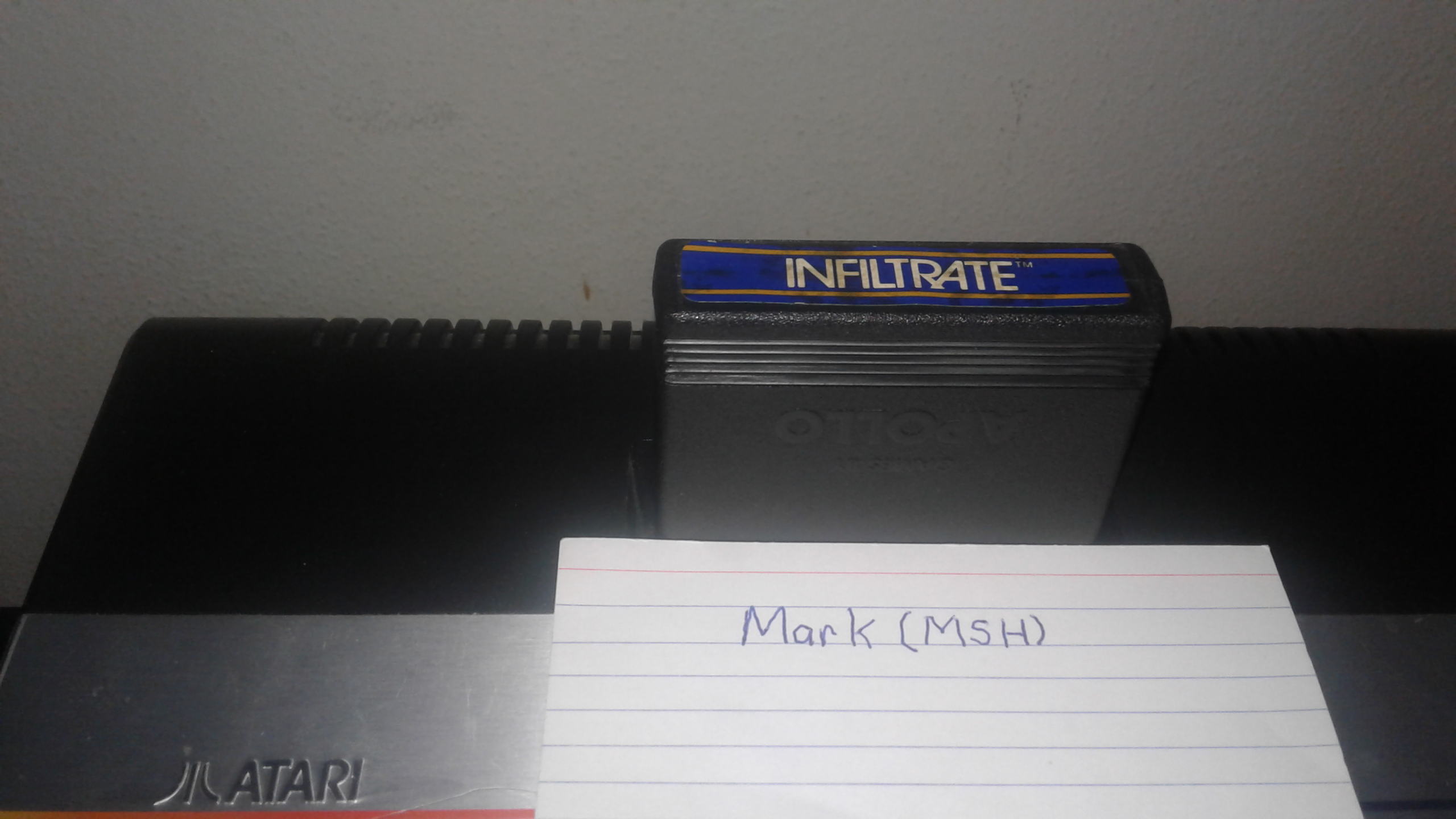 Mark: Infiltrate: Game 6 (Atari 2600 Expert/A) 10,425 points on 2019-02-28 02:03:45