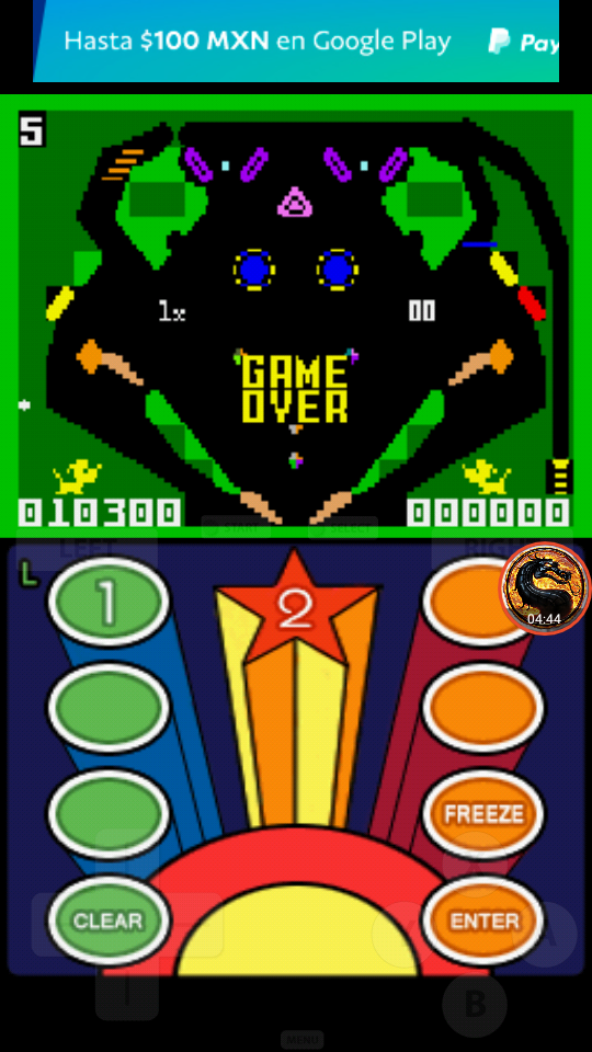 omargeddon: Intellivision Lives: Pinball (Nintendo DS Emulated) 10,300 points on 2019-04-28 11:38:23