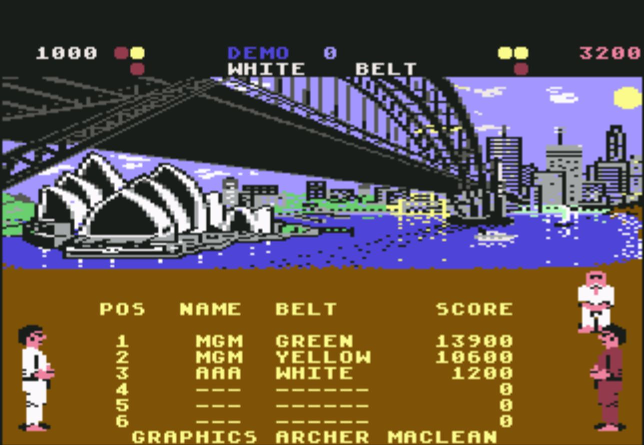 magicmulder: International Karate (Commodore 64 Emulated) 13,900 points on 2017-04-19 13:33:27