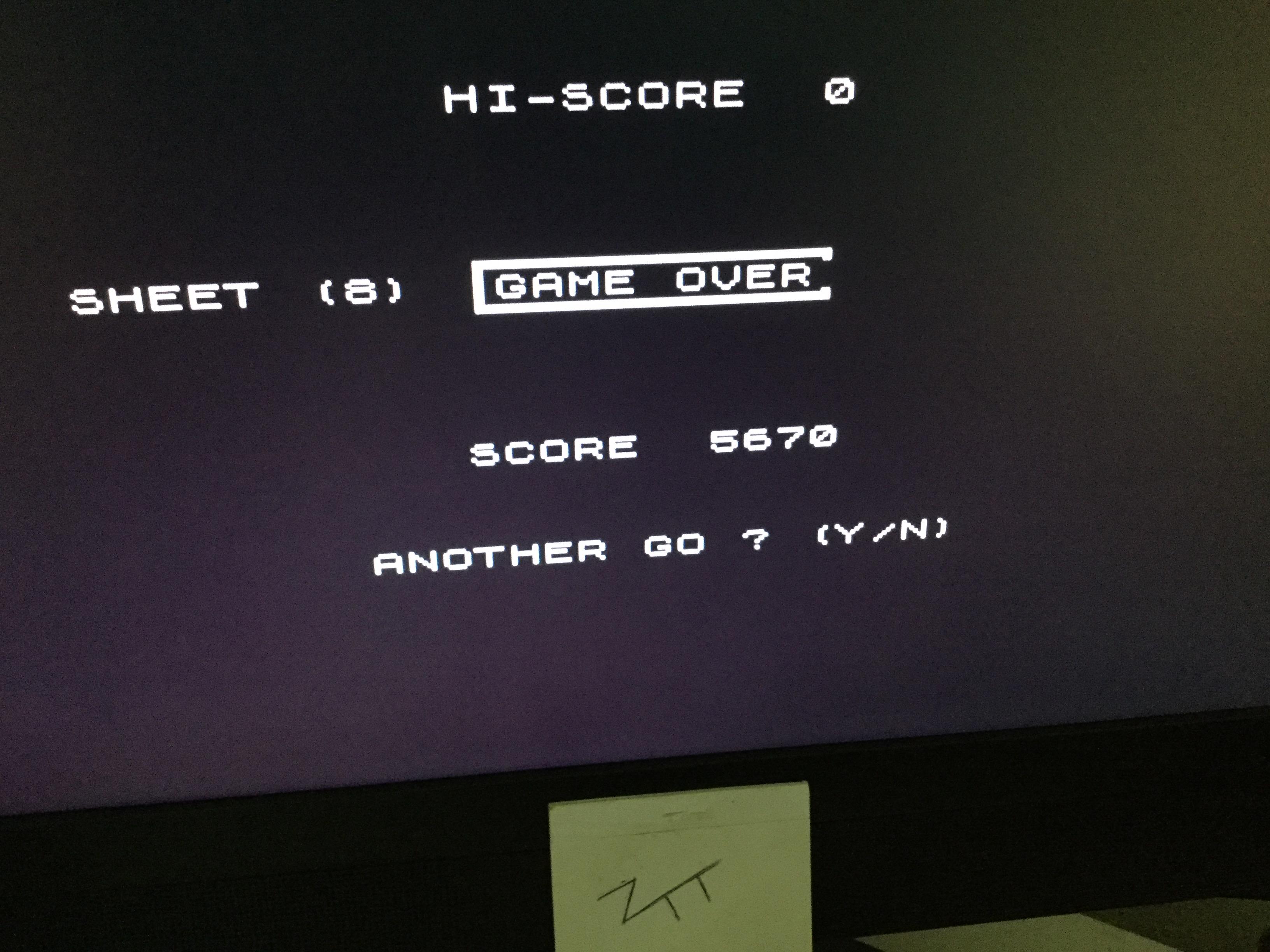 Frankie: Invadigits (ZX Spectrum) 5,670 points on 2020-10-03 04:23:09