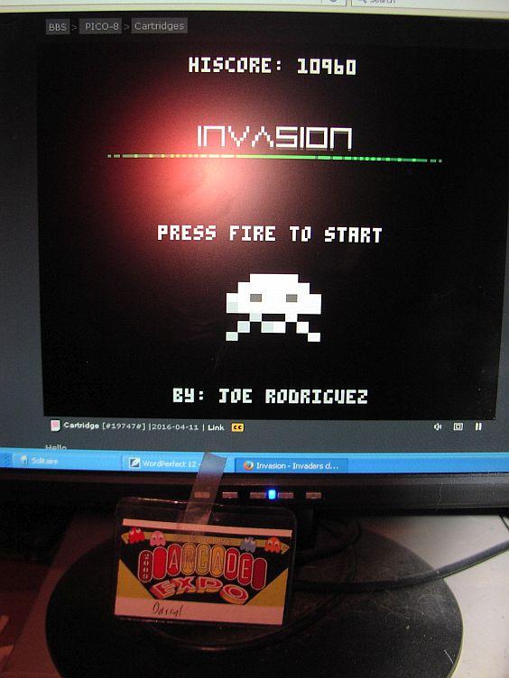 Invasion [Pico-8] 10,960 points