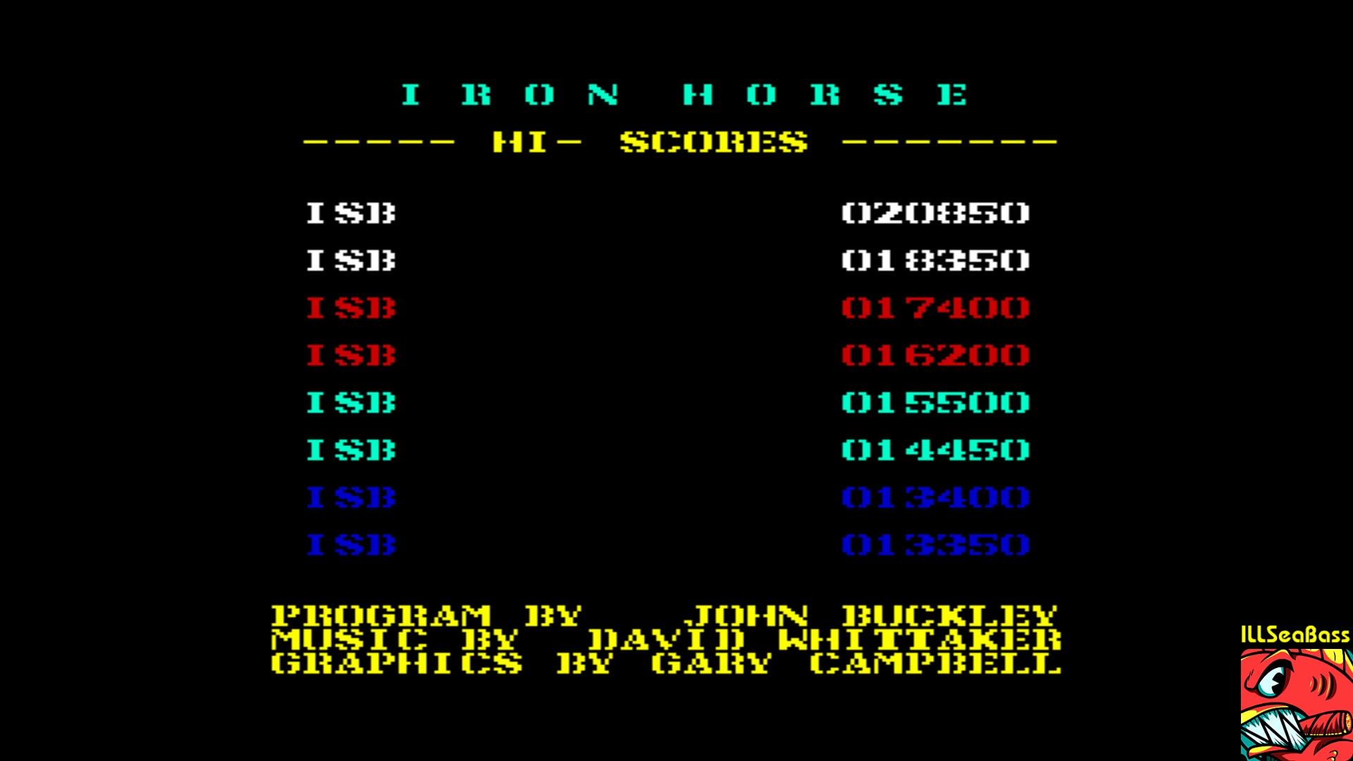 ILLSeaBass: Iron Horse (Commodore 64 Emulated) 20,850 points on 2018-01-18 22:04:48