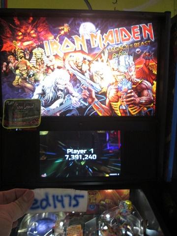 ed1475: Iron Maiden (Pinball: 3 Balls) 7,391,240 points on 2018-08-23 18:40:01