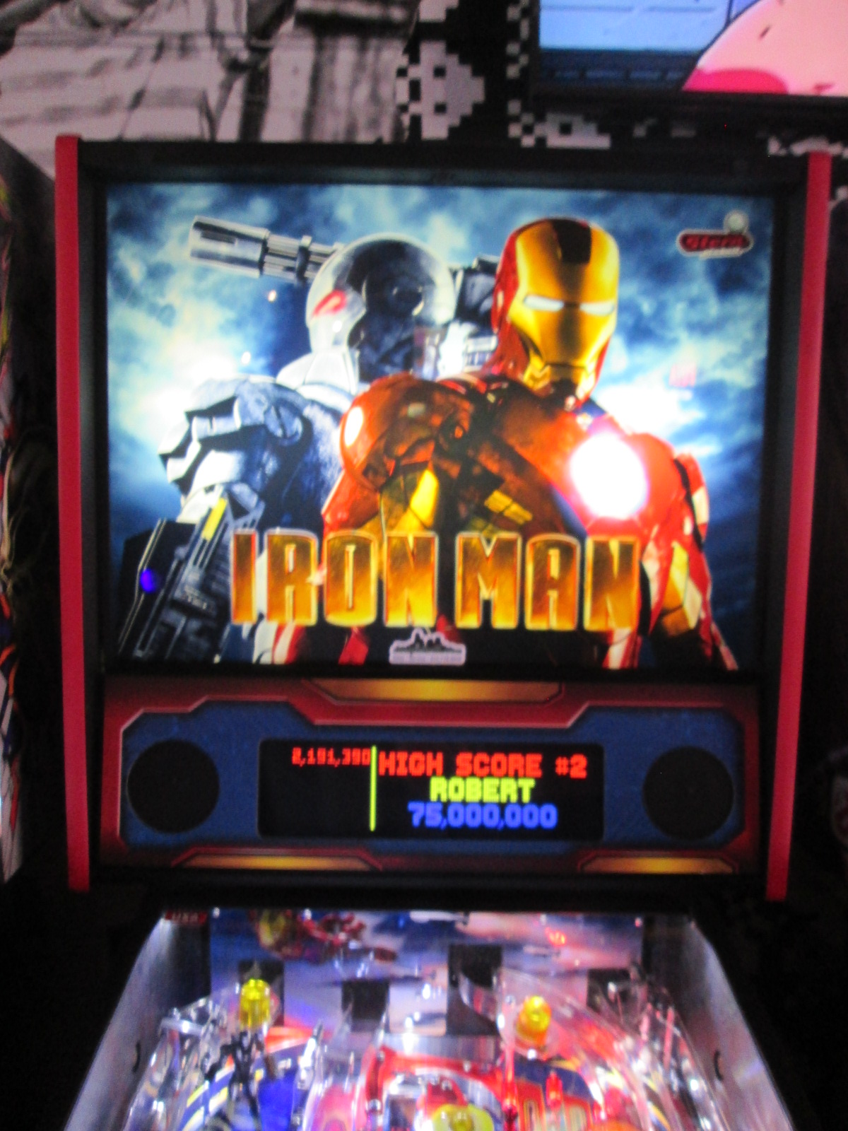ed1475: Iron Man (Pinball: 3 Balls) 2,191,390 points on 2016-08-28 17:38:21