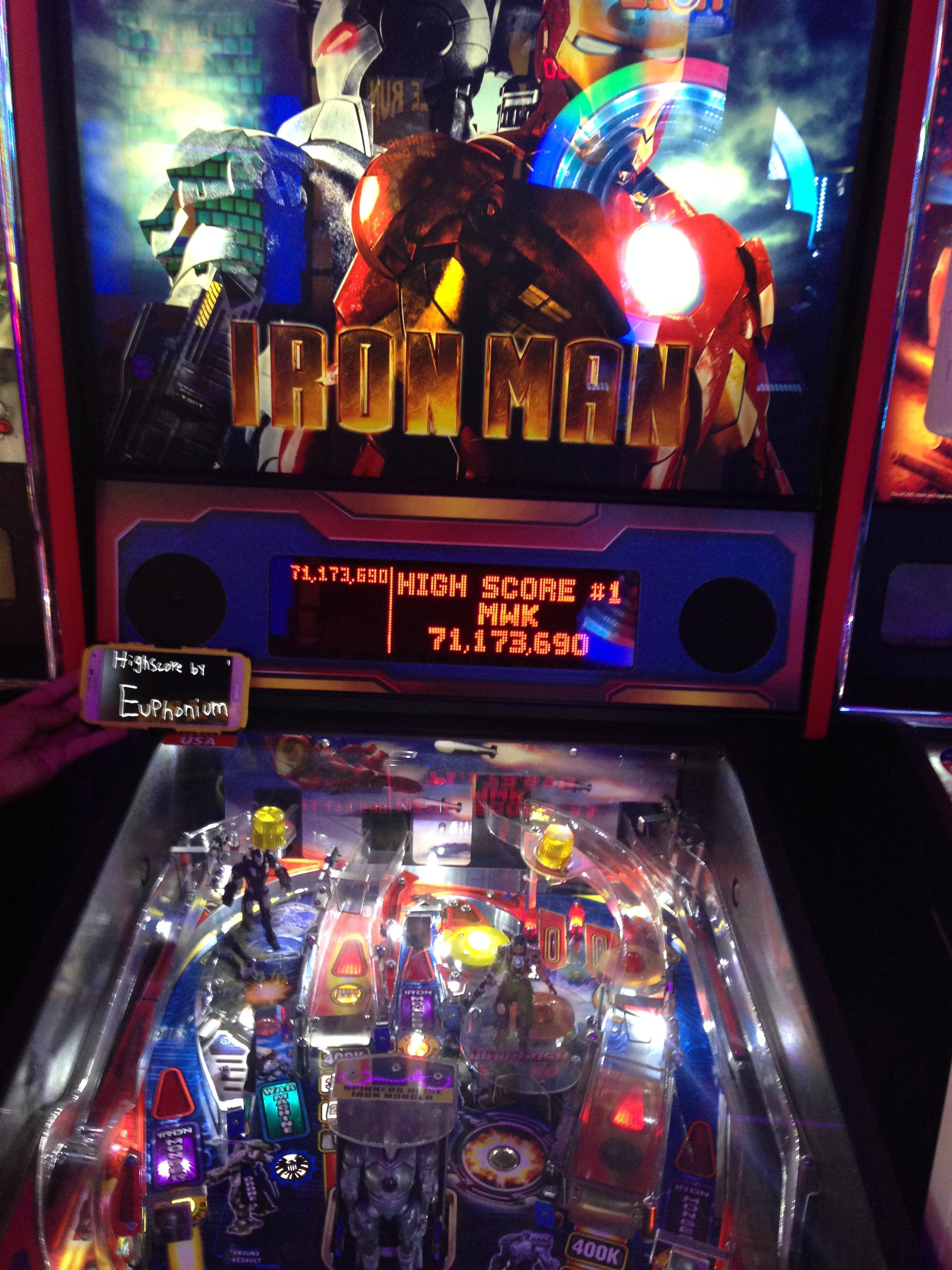 euphonium: Iron Man (Pinball: 3 Balls) 71,173,690 points on 2016-10-02 10:04:13