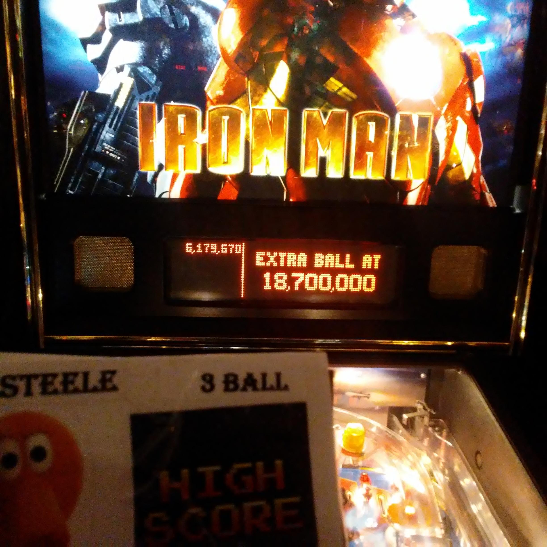 Pjsteele: Iron Man (Pinball: 3 Balls) 6,179,670 points on 2018-03-03 18:54:16