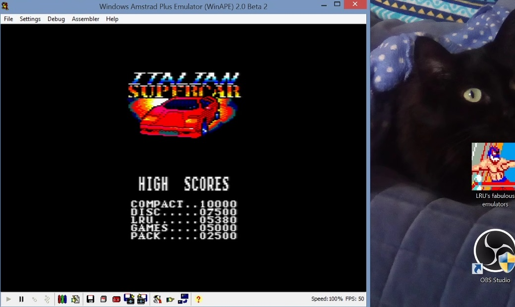 LuigiRuffolo: Italian Supercar (Amstrad CPC Emulated) 5,380 points on 2021-01-20 10:02:15