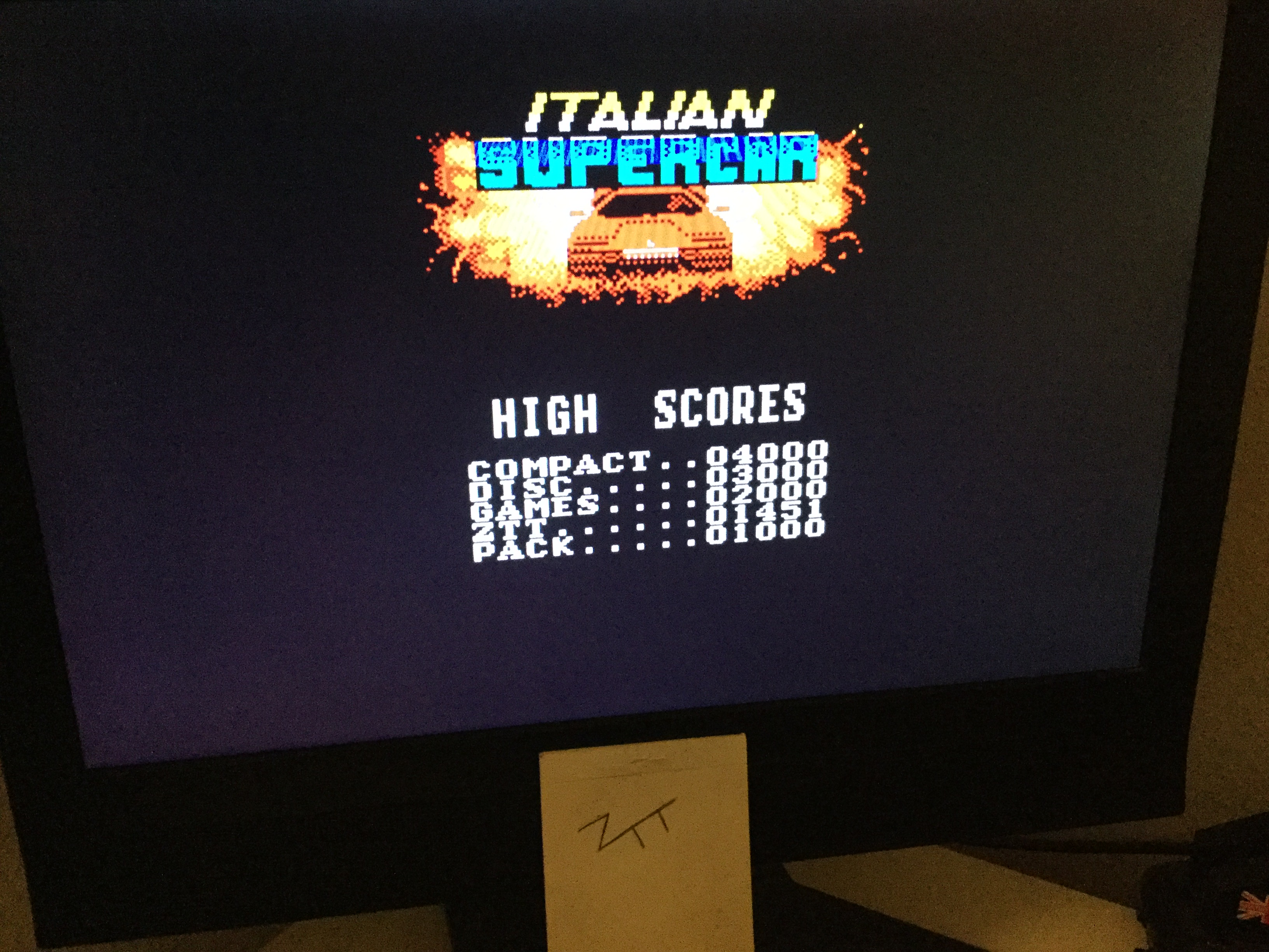 Frankie: Italian Supercar (ZX Spectrum) 1,451 points on 2020-10-03 04:30:34