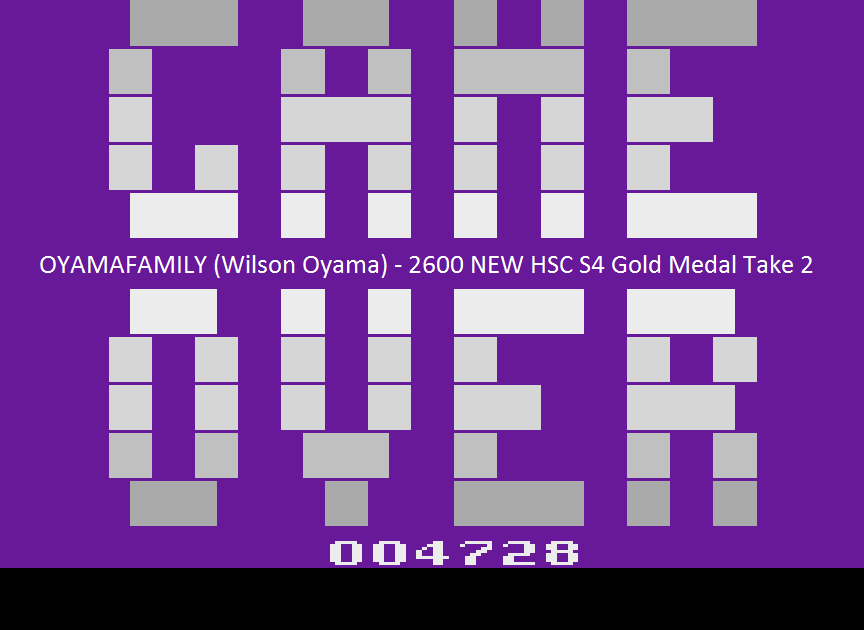 oyamafamily: J.Ö.R.G.E.N (Atari 2600 Emulated) 4,728 points on 2015-11-09 18:41:34