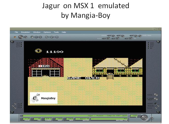 MangiaBoy: Jagur (MSX Emulated) 11,100 points on 2018-05-27 17:08:42
