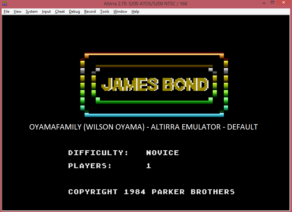 oyamafamily: James Bond 007 (Atari 5200 Emulated) 1,250 points on 2016-04-23 20:13:12