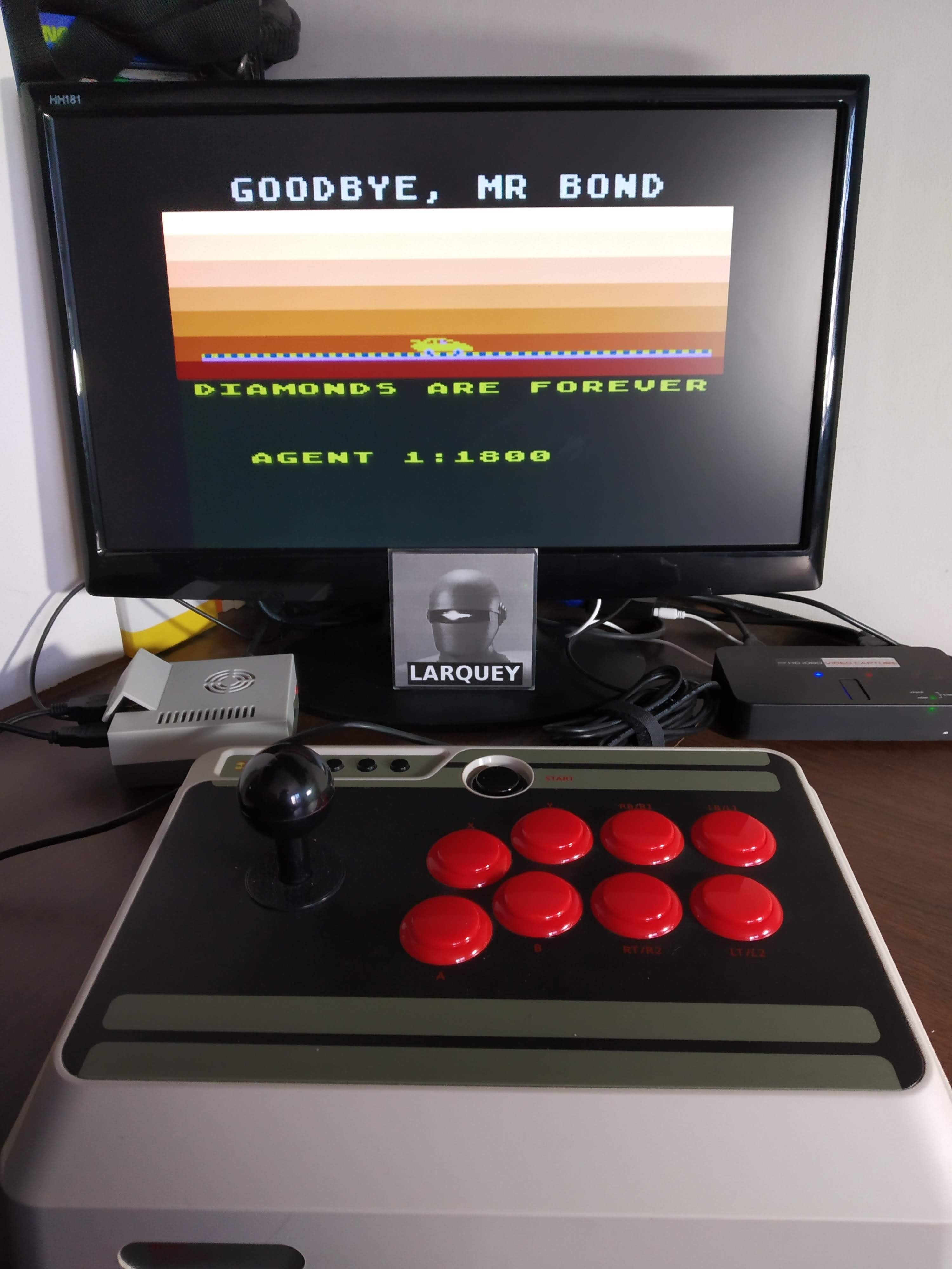 Larquey: James Bond 007 (Atari 5200 Emulated) 1,800 points on 2019-11-11 13:50:45