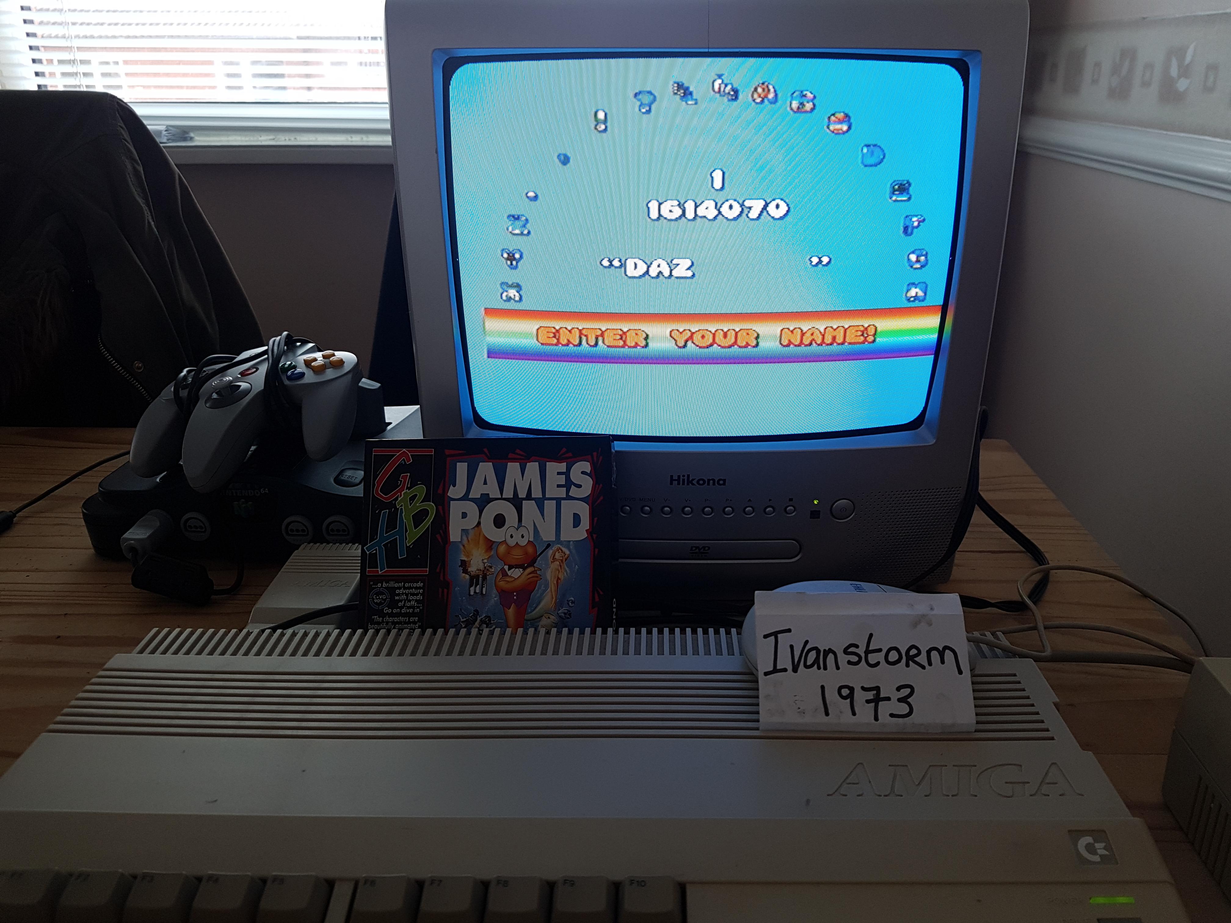 Ivanstorm1973: James Pond: Underwater Agent (Amiga) 1,614,070 points on 2018-02-20 14:15:17