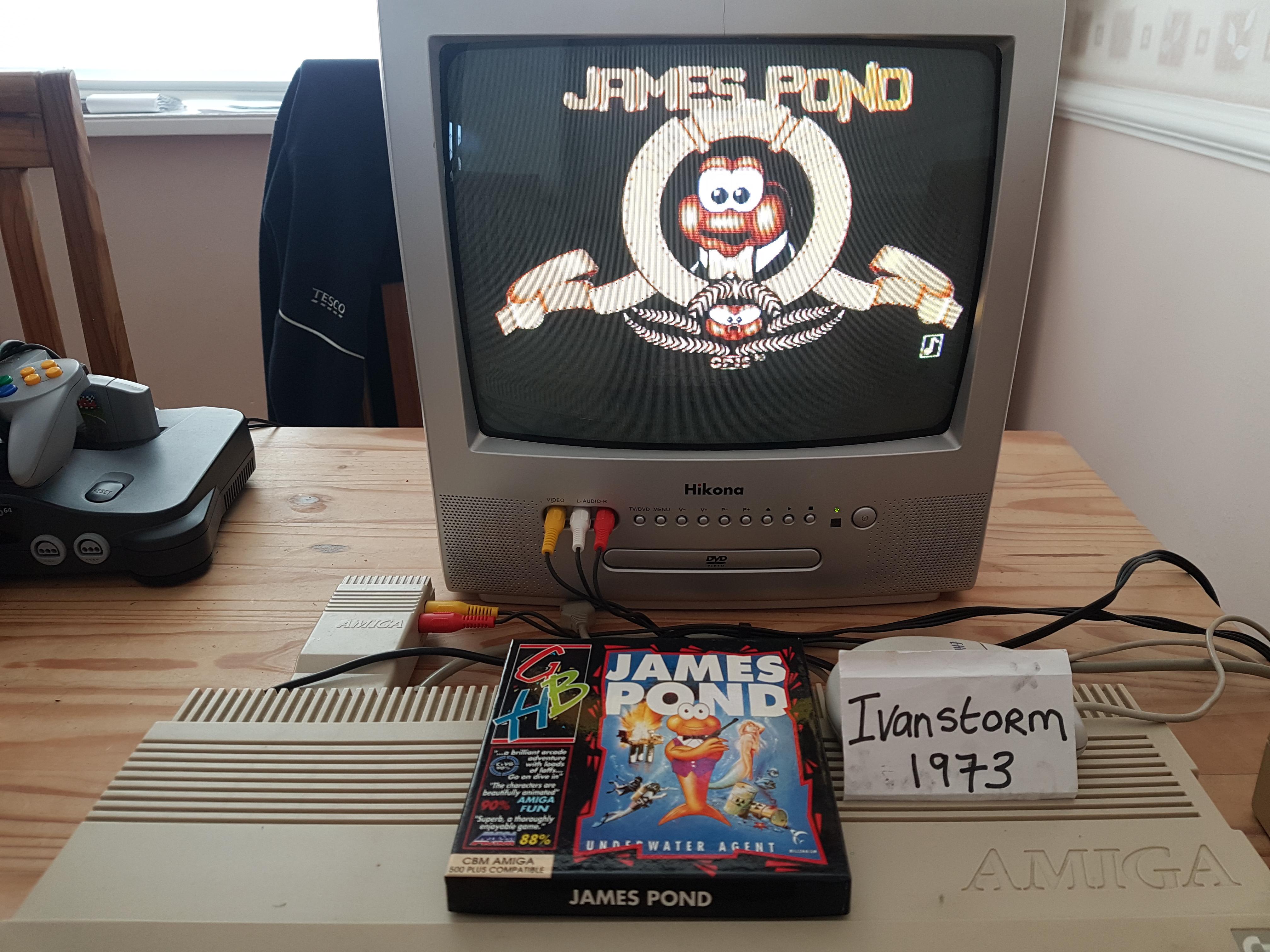Ivanstorm1973: James Pond: Underwater Agent (Amiga) 2,359,000 points on 2018-03-25 11:34:08