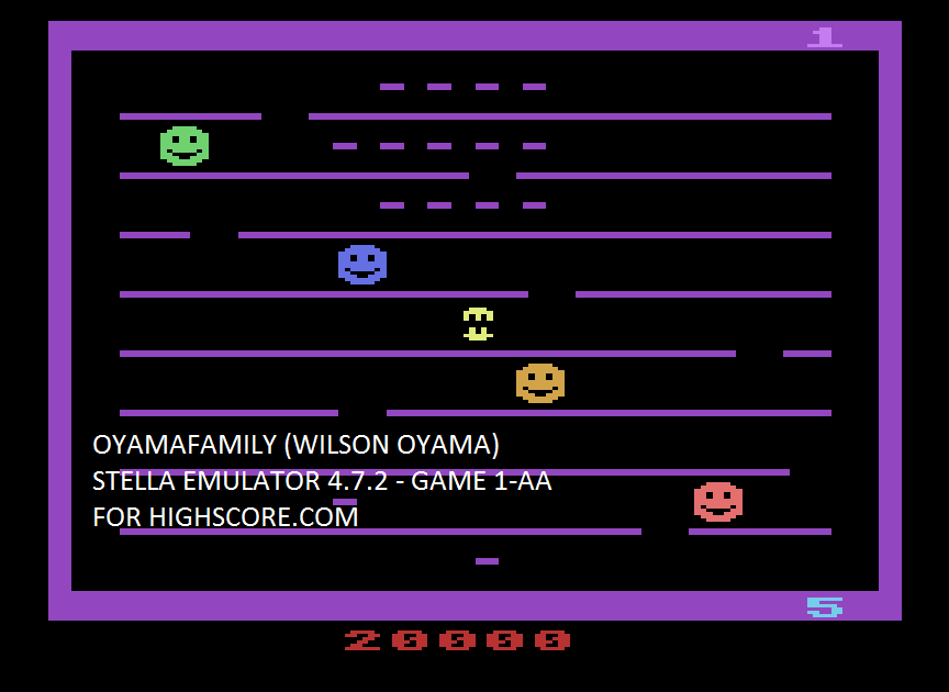 oyamafamily: Jawbreaker (Atari 2600 Emulated Expert/A Mode) 20,000 points on 2017-04-17 19:13:42