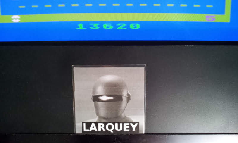 Larquey: Jawbreaker (Atari 2600 Emulated Novice/B Mode) 13,620 points on 2018-06-27 11:33:07