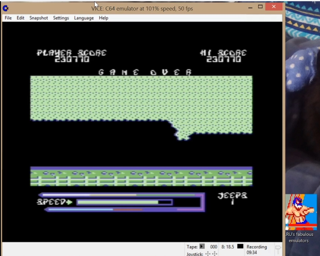 LuigiRuffolo: Jeep Command II (Commodore 64 Emulated) 230,770 points on 2020-05-26 10:13:41