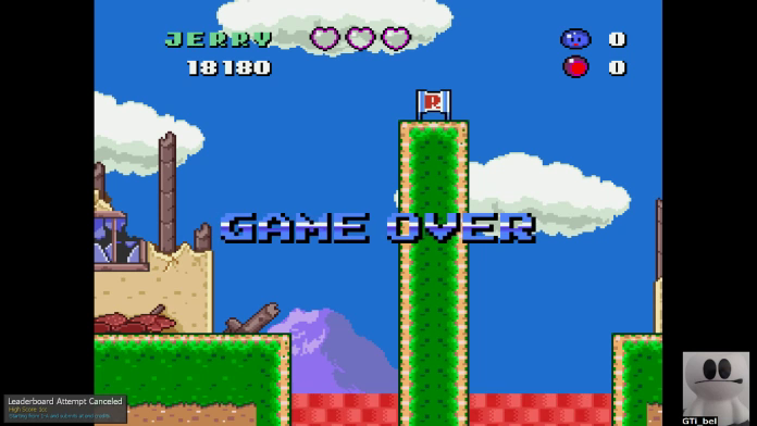 GTibel: Jerry Boy [Start Level 1-A] (SNES/Super Famicom Emulated) 18,180 points on 2019-11-28 00:16:53