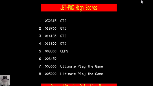 GTibel: Jet Pac (BBC Micro Emulated) 30,615 points on 2017-10-30 10:41:21