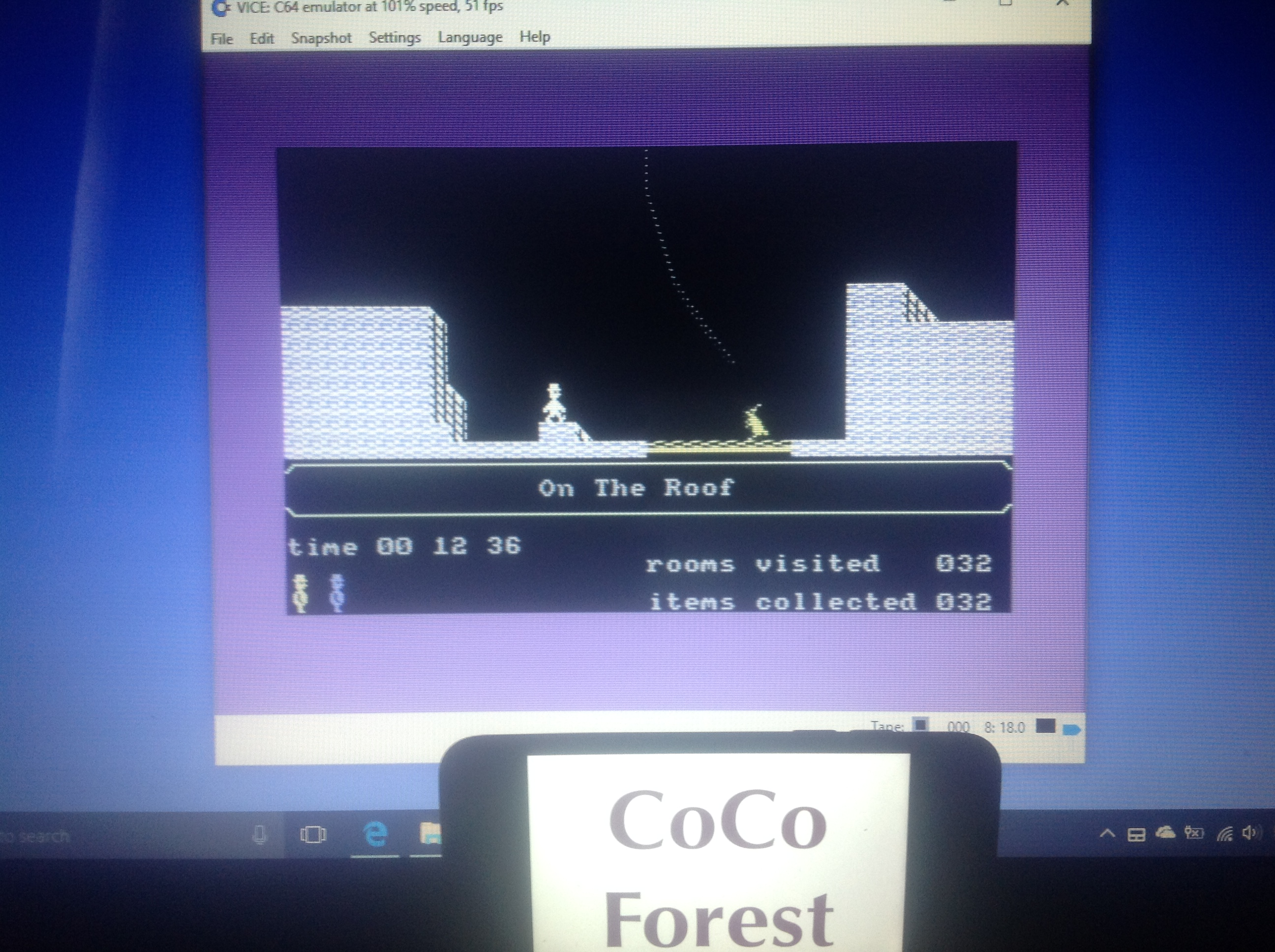 CoCoForest: Jet Set Willy II (Commodore 64 Emulated) 32 points on 2018-01-13 06:53:30