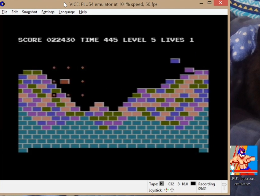 LuigiRuffolo: Jetbrix (Commodore 16/Plus4 Emulated) 22,430 points on 2020-06-28 03:00:53