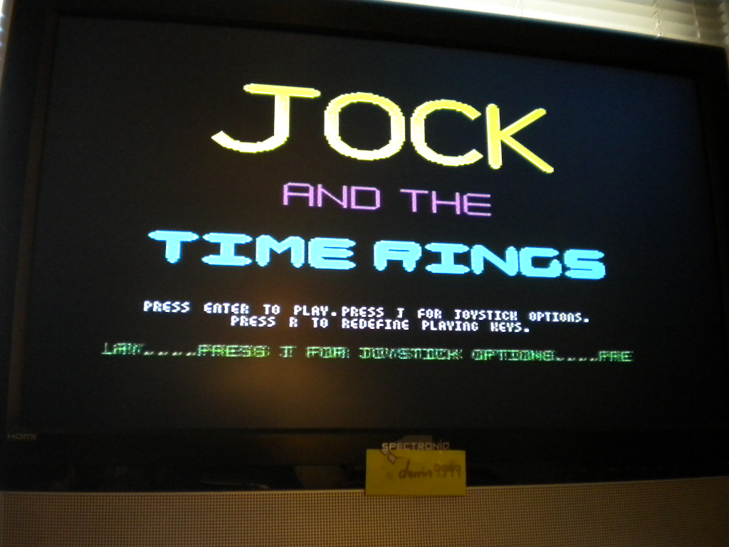 Jock and the Time Rings [Start in First Zone][Rings Collected * 10,000 + Score] 500 points