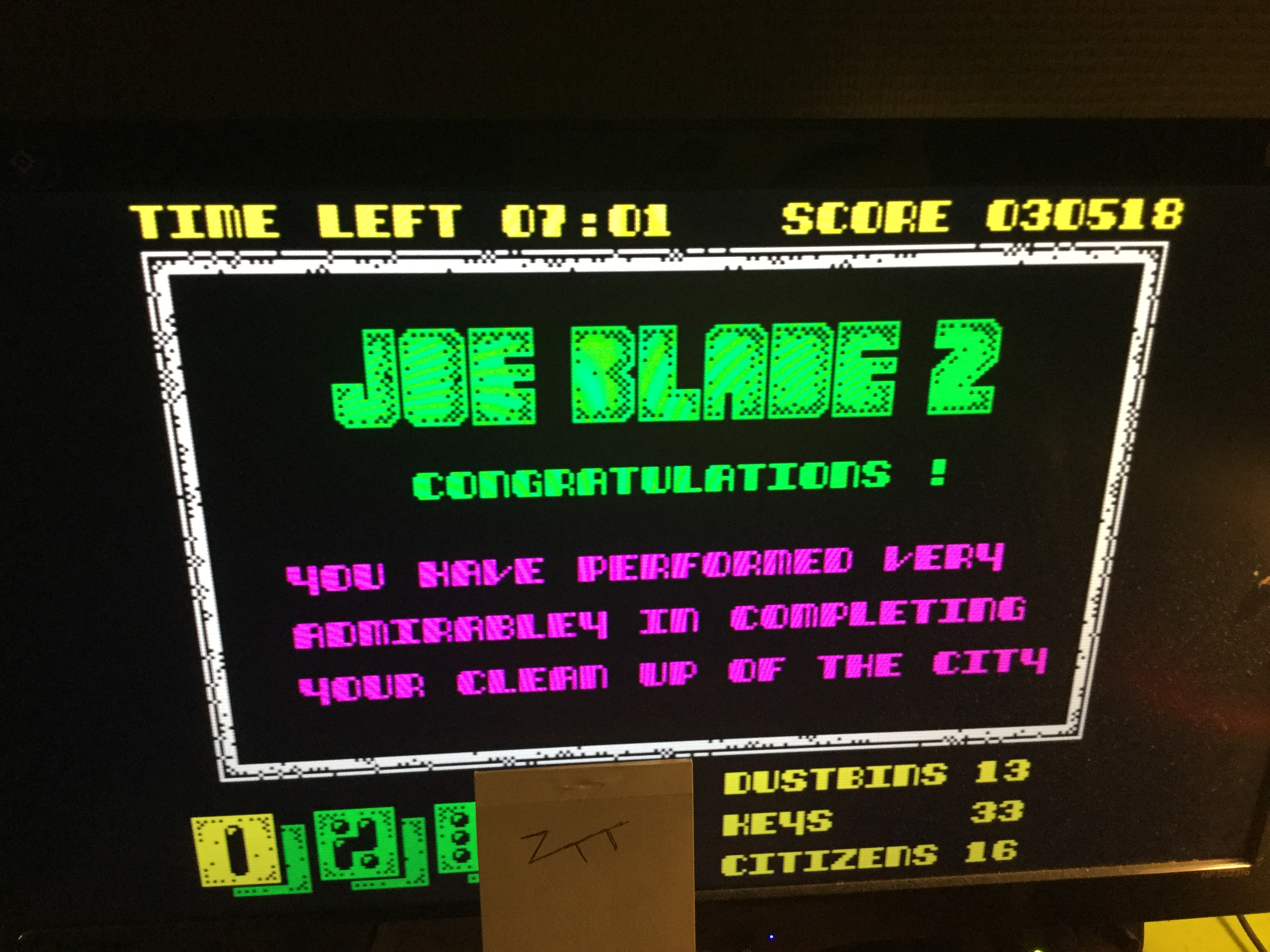 Frankie: Joe Blade 2 [50,000 Points Completion Bonus] (ZX Spectrum Emulated) 80,518 points on 2019-02-21 16:33:06