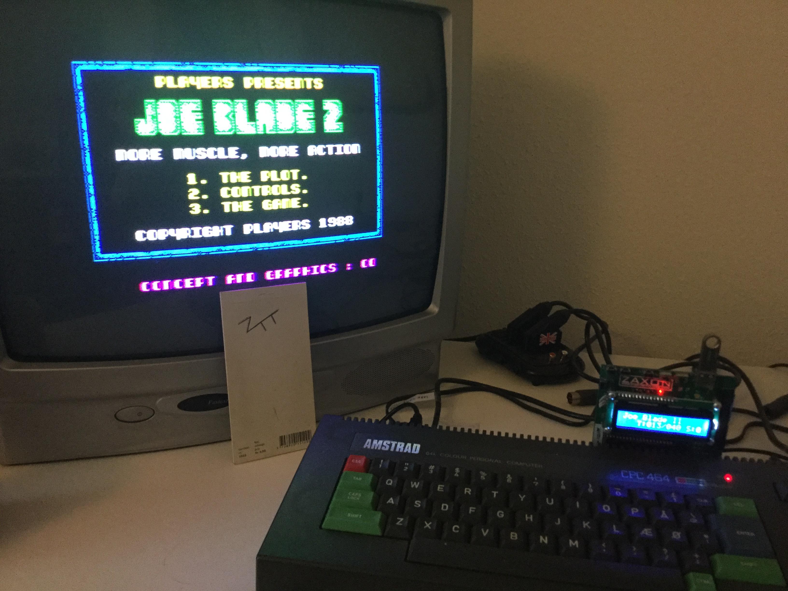 Frankie: Joe Blade 2 (Amstrad CPC) 6,550 points on 2017-02-12 04:17:18