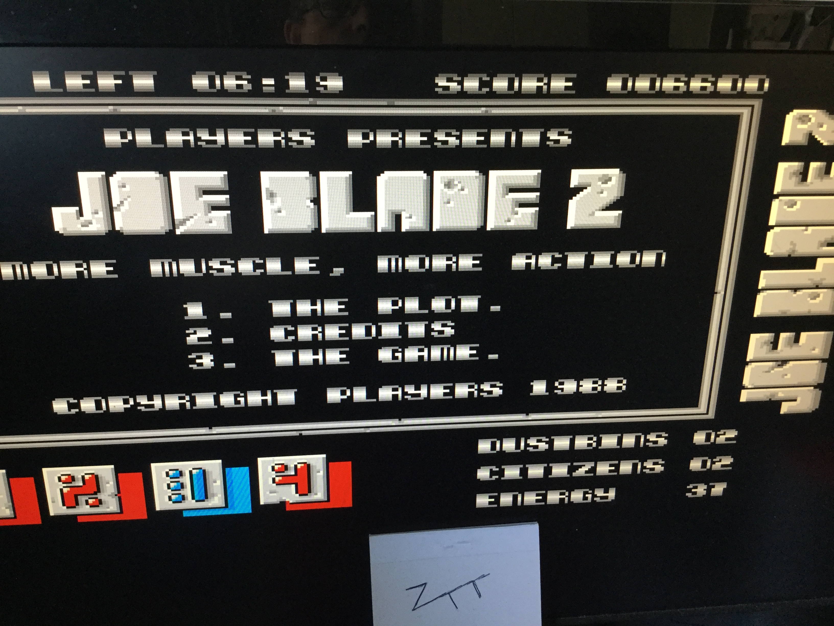 Frankie: Joe Blade 2 [[Citizens + Dustbins] * [Score]] (Amiga Emulated) 26,400 points on 2019-04-20 04:02:56