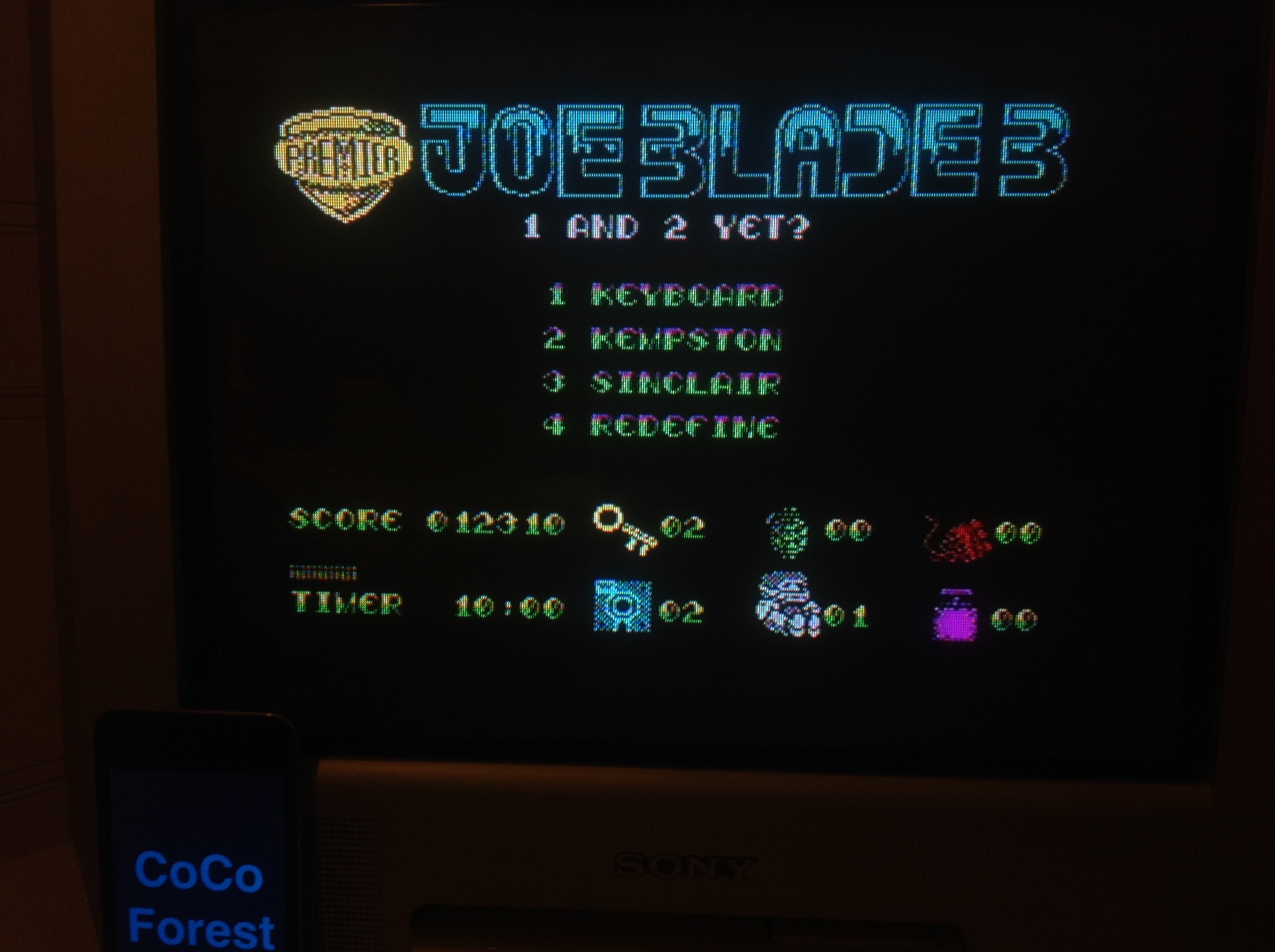 CoCoForest: Joe Blade 3 [100,000 Points Completion Bonus] (ZX Spectrum) 12,310 points on 2016-01-24 11:19:58