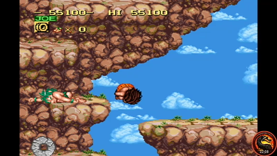 omargeddon: Joe & Mac [Easy] (SNES/Super Famicom Emulated) 55,100 points on 2020-09-14 01:40:38