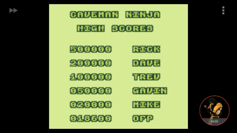 omargeddon: Joe & Mac (Game Boy Emulated) 18,600 points on 2018-01-07 20:11:06