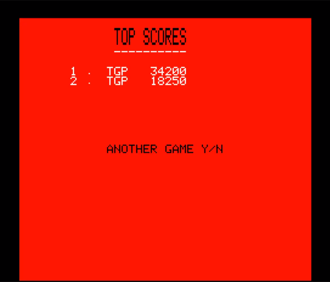 80sChips: Jogger (Oric-1 Emulated) 34,200 points on 2020-07-18 12:00:28