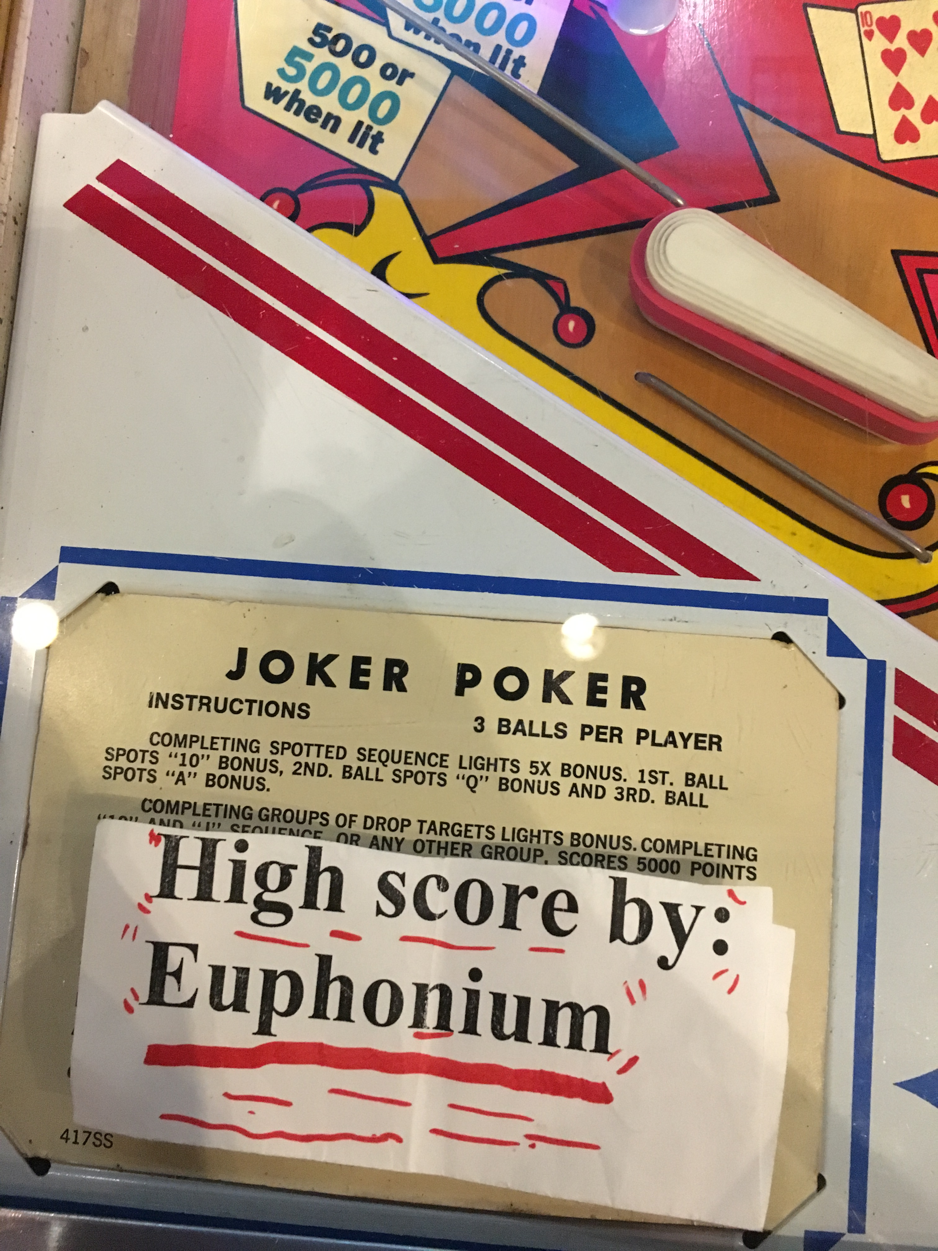 euphonium: Joker Poker [Gottlieb EM] (Pinball: 3 Balls) 178,050 points on 2018-03-18 21:13:48