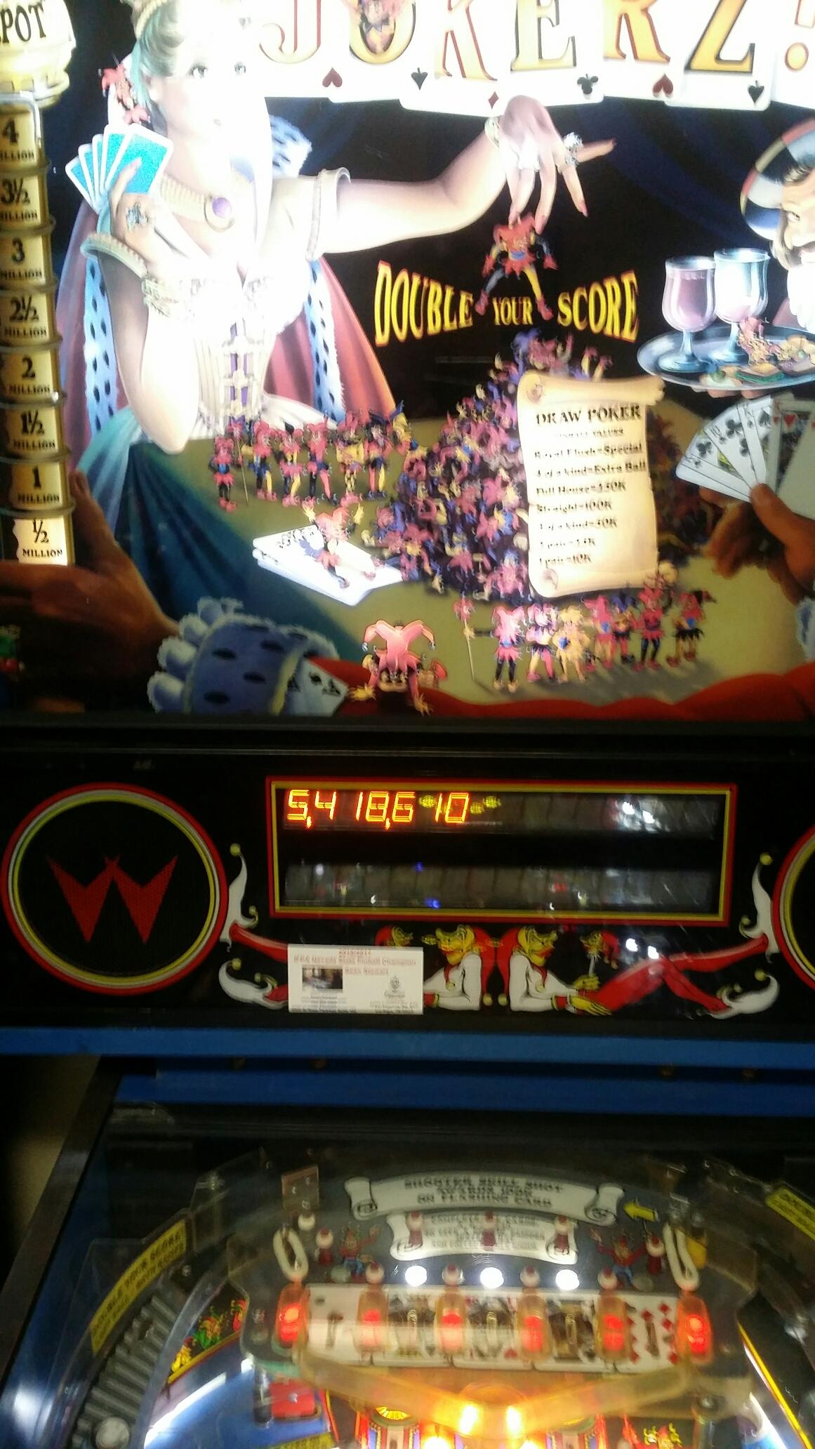 SeanStewart: Jokerz! (Pinball: 3 Balls) 5,418,610 points on 2017-05-08 18:02:22