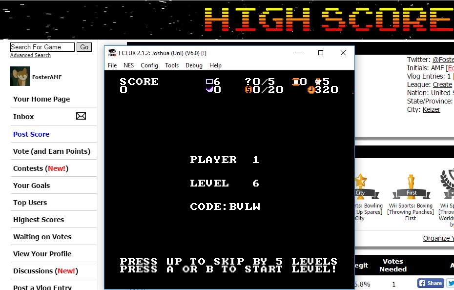 FosterAMF: Joshua & The Battle Of Jericho [Level 6 Start] (NES/Famicom Emulated) 149,660 points on 2016-01-13 15:47:43
