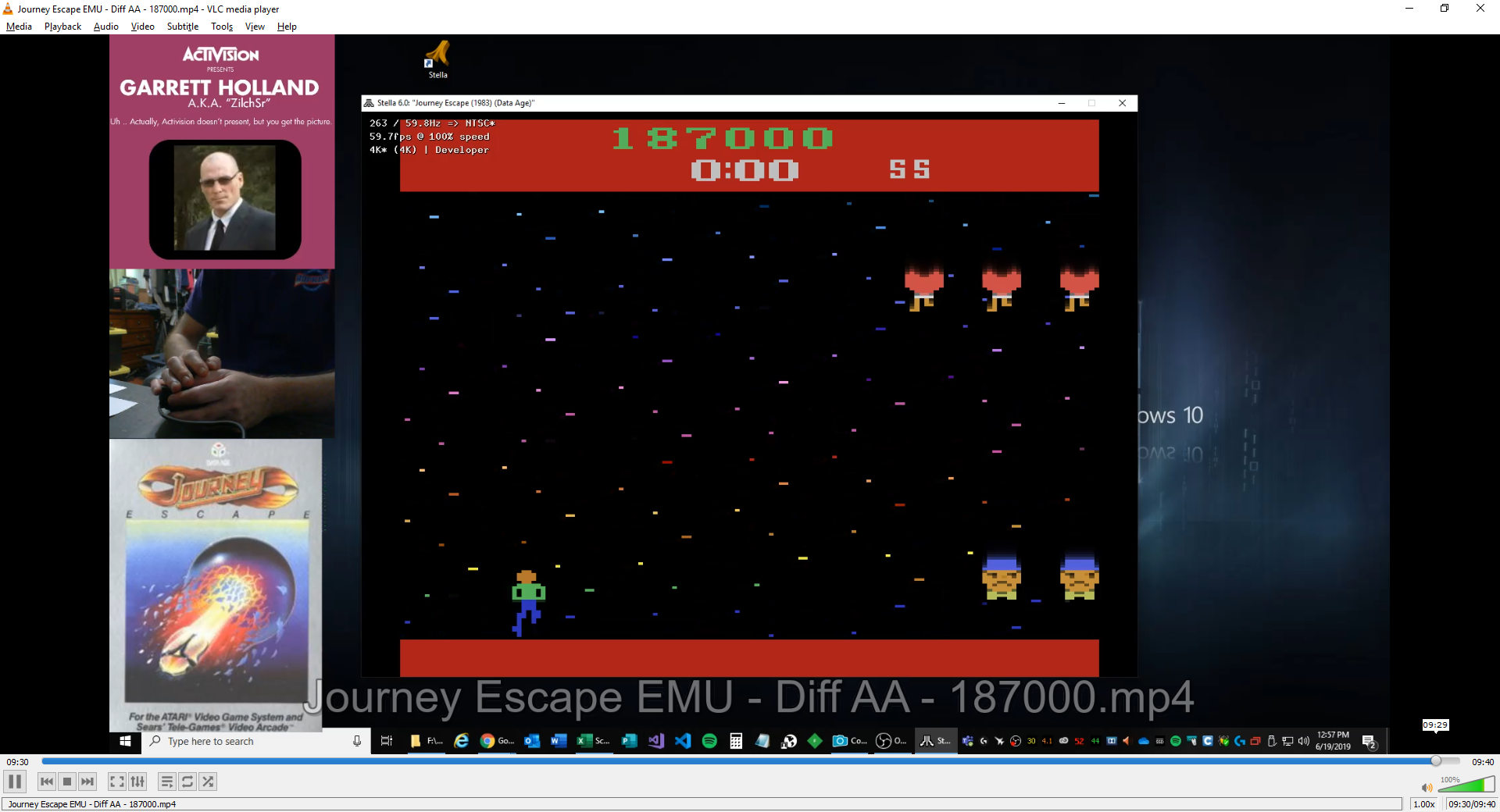 ZilchSr: Journey Escape (Atari 2600 Emulated Expert/A Mode) 187,000 points on 2019-06-19 12:03:17