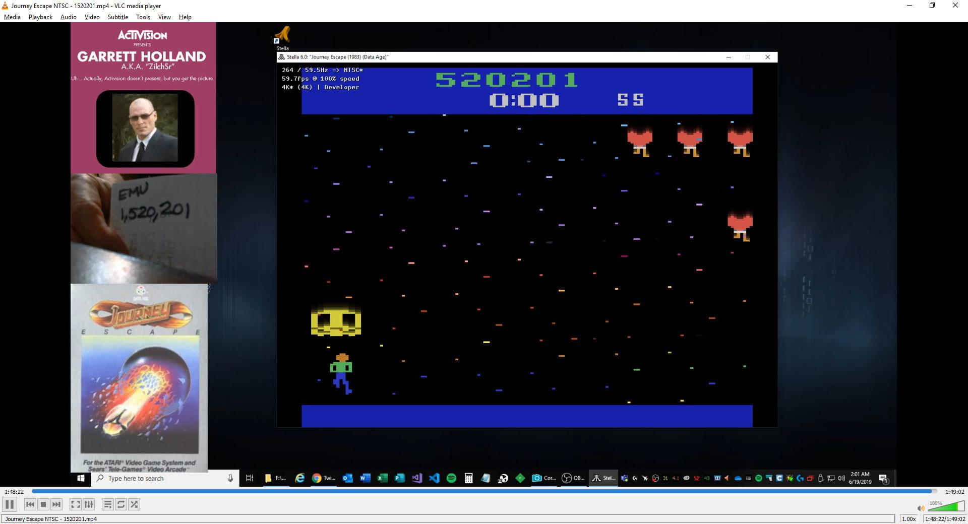 ZilchSr: Journey Escape (Atari 2600 Emulated Novice/B Mode) 1,520,201 points on 2019-06-19 01:14:41