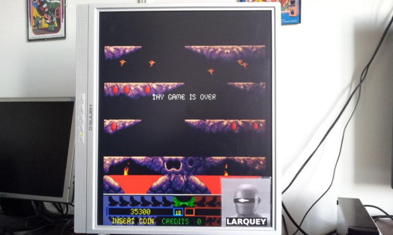 Larquey: Joust 2 (Arcade Emulated / M.A.M.E.) 35,300 points on 2018-04-01 09:40:01